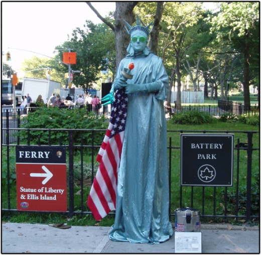 Statue of Liberty Impersonator Battery Park