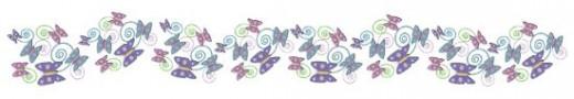 Butterfly Clip Art Divider