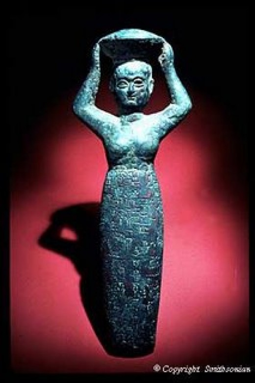 A statue of the Goddess herself, dating back to ancient times.