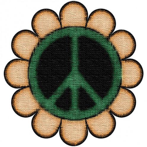 Vintage Peace Symbol ClipArt