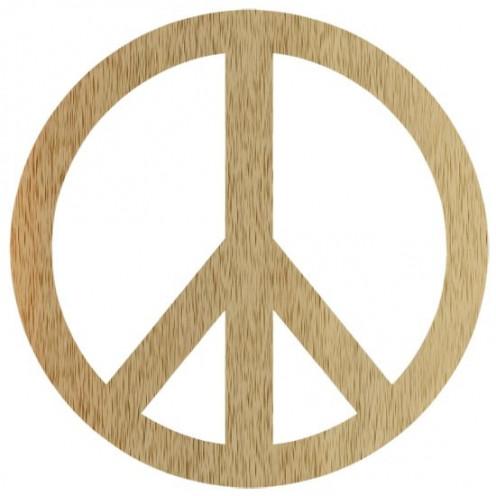 Wood Peace Symbol Clipart Free