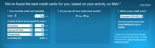 Figure 5.4: Mint.com suggests credit cards for you based on your spending habits.
