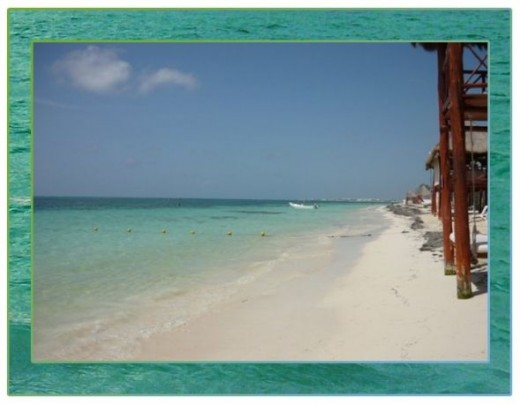This is the beach that we walked to. The next 2 photos are of the beach at the resort.