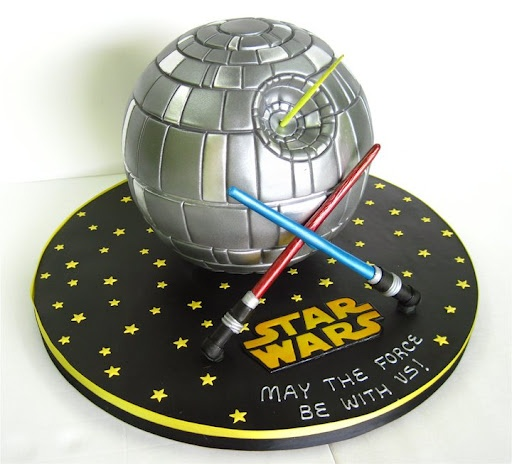 Death Star cake via Pinterest