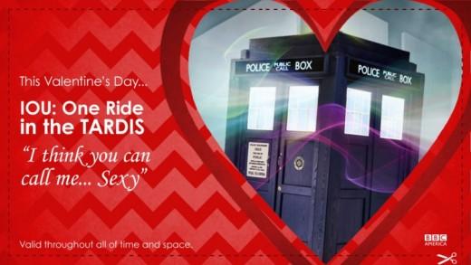 Tardis Valentine card