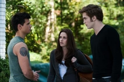Jacob, Bella, and Edward...