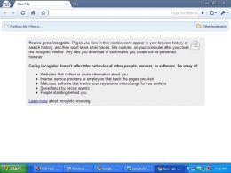 Incognito window of Google Chrome
