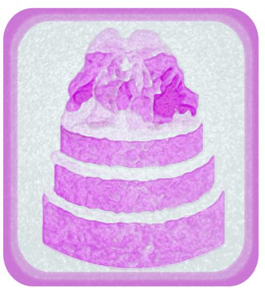 Pink Cake Graphic