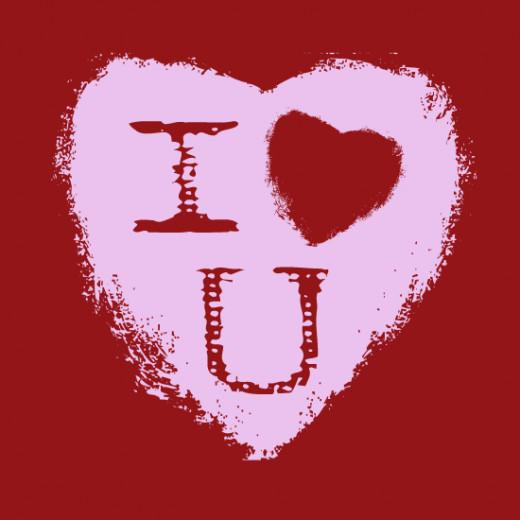 I Heart U Valentine Clip Art Free