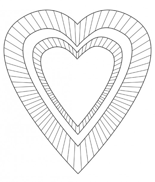 Valentine Heart Coloring Image