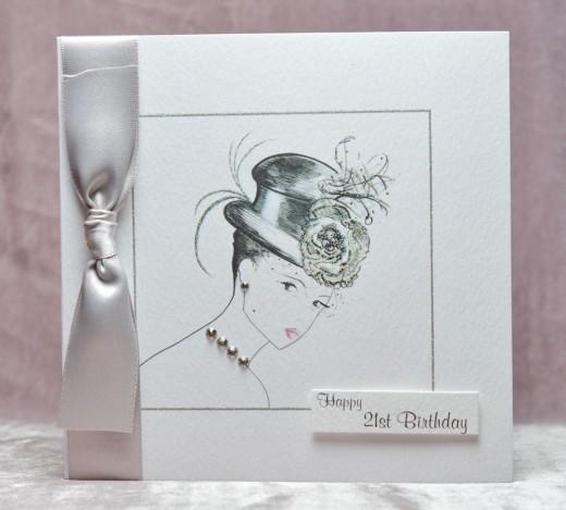 ladies 21st birthday cards