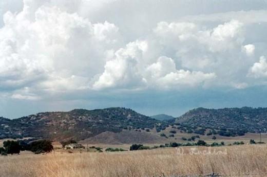Monsoon clouds near Santa Ysabel.