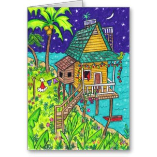 Fun Holiday Cards with a Tropical Theme