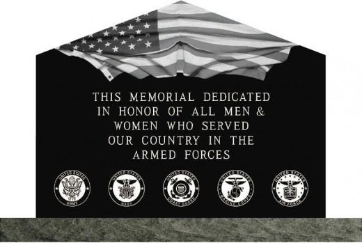 Veterans Memorial at Veterans Park in Pendleton SC