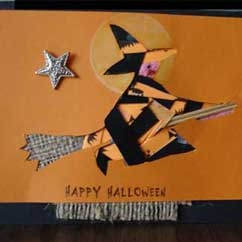 Card With Witch and Broom