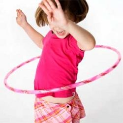 Young Girl Using a Hoop