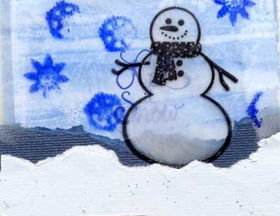 Snowman on Acetate Card