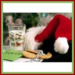 Santa Hat Beside Cookies and Milk