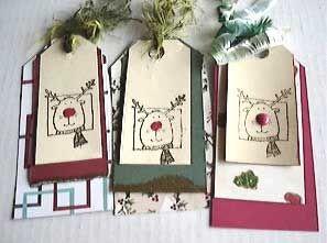 Three Reindeer Bookmarks for Kids