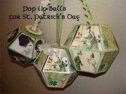 St. Patricks Day 3D Pop-up Cube