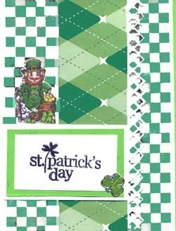 St. Patrick's Day card with leprechaun