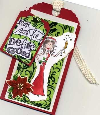 Dear Santa, Define Good -- Gift  Tag