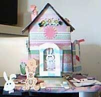 Easter bunny house craft project