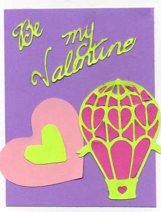 Child's Valentine with die cut balloon