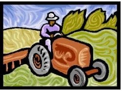 Cartoon Picture of Farm Tractor