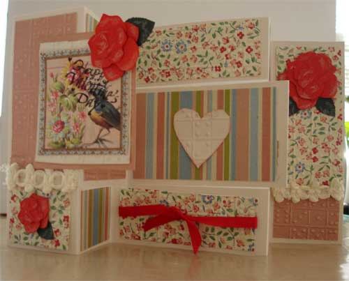 Fancy fold Valentine card.