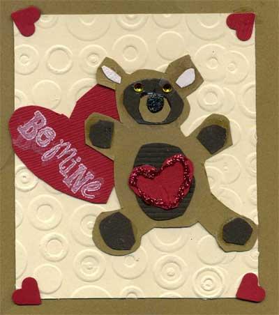 Child's Valentine with teddy bear