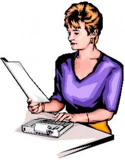 Woman Doing Bookkeeping