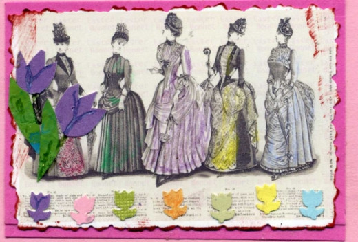 ATC with Victorian Ladies in Easter Bonnets