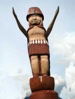 Aboriginal Statue in Ambleside