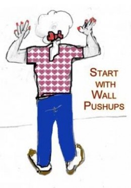 Doing Wall Pushups