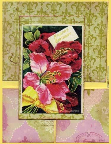 Fancy Fold Card with Garden Theme.