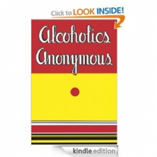This is the Big Book of Alcoholics Anonymous and can be purchased from the Amazon ad further down in this article.  Other suggested books are also available.