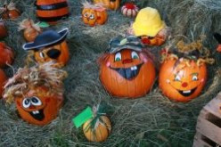 Funny Painted and Decorated Halloween Pumpkins