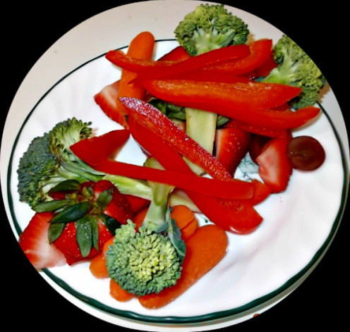Guinea Pig's Favorite Foods Plate