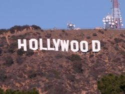 The famous Hollywood sign can be seen from many locations in Hollywood and nearby parts of Los Angeles.