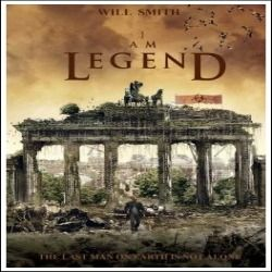 I Am Legend - Starring Will Smith - Movie Poster (27 x 40) Amazon - $15.25