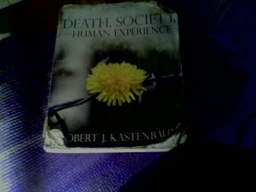 My dog eared copy of Death, Society and Human Experience.