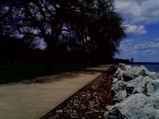Bike path in Evanston