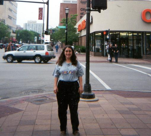 This picture was taken a few years back at an Osco Drugs.  It is now the site of a Barnes and Nobles.  This is my friend Helene in the picture.