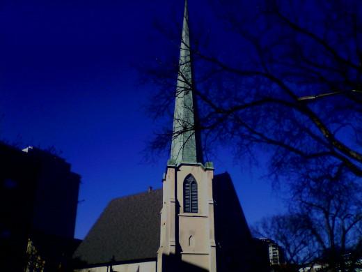 Lake Street Church Steeple on a sunnier day!