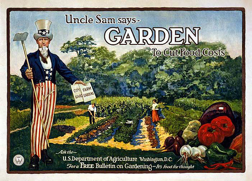 Even Uncle Sam believes in the power of a Victory Garden!