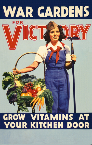 Bountiful harvests from a Victory Garden were commonplace in World War l and World War ll