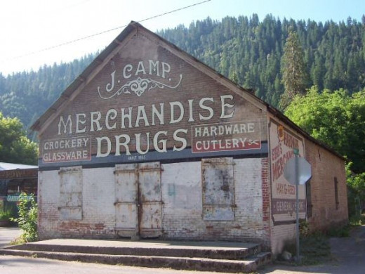 The J.Camp Mercantile is one of the oldest buildings in Happy Camp, built in 1865.