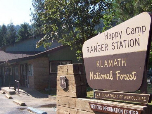 The main forest service office in Happy Camp doubles as the town's Visitor's Center.