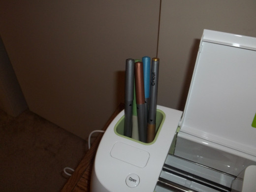 Another storage area on top of my Cricut-perfect for tools and pens